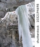 breitachklamm in winter icicles ... | Shutterstock . vector #1032194698