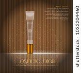 3d realistic cosmetic bottle... | Shutterstock .eps vector #1032204460