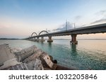 dompak bridge  riau island ... | Shutterstock . vector #1032205846