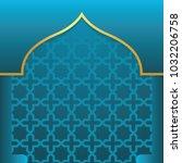 islamic background vector.   Shutterstock .eps vector #1032206758