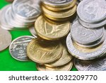 thai baht coin  gold and silver ... | Shutterstock . vector #1032209770