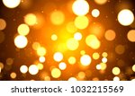 festive golden bokeh background | Shutterstock .eps vector #1032215569