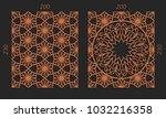 laser cutting set. woodcut... | Shutterstock .eps vector #1032216358
