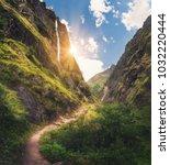 amazing himalayan mountains...   Shutterstock . vector #1032220444