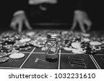the croupier in the casino... | Shutterstock . vector #1032231610