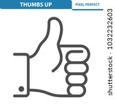 thumbs up icon. professional ... | Shutterstock .eps vector #1032232603