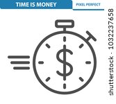 time is money icon.... | Shutterstock .eps vector #1032237658