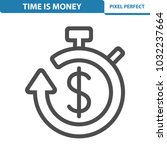 time is money icon.... | Shutterstock .eps vector #1032237664