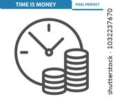 time is money icon.... | Shutterstock .eps vector #1032237670