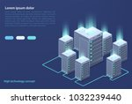 data center. concept of cloud... | Shutterstock .eps vector #1032239440