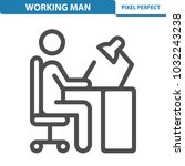 working man icon. professional  ... | Shutterstock .eps vector #1032243238