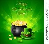 st.patricks day  treasure of...   Shutterstock . vector #1032248173