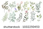watercolor illustration. ... | Shutterstock . vector #1032250453