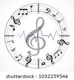 music note background | Shutterstock .eps vector #1032259546