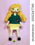 cute handmade rag dolls. | Shutterstock . vector #1032267760