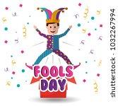 joker jumping jack in the box... | Shutterstock .eps vector #1032267994