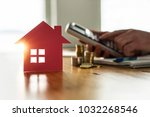 buying and selling houses and... | Shutterstock . vector #1032268546