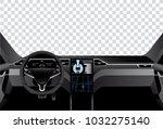interior of self driving car... | Shutterstock .eps vector #1032275140