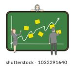 business people are standing at ... | Shutterstock .eps vector #1032291640