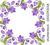 crocus flowers spring floral...   Shutterstock .eps vector #1032292018
