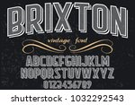 vintage font typeface...   Shutterstock .eps vector #1032292543