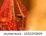 diya and lamp made of earth... | Shutterstock . vector #1032293839
