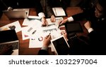 business concept. business team ... | Shutterstock . vector #1032297004