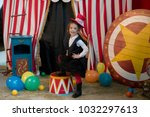 Vintage Circus. Smiling Funny...