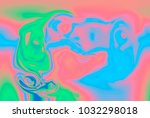 holographic marbleized effect... | Shutterstock . vector #1032298018
