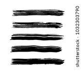 brush stroke set. texture. | Shutterstock .eps vector #1032303790