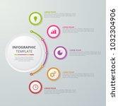 infographics template for... | Shutterstock .eps vector #1032304906