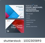 material design of brochure set ... | Shutterstock .eps vector #1032305893