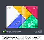 material design of brochure set ... | Shutterstock .eps vector #1032305920