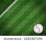 3d render of baseball on the... | Shutterstock . vector #1032307240