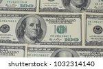hundred dollar bills. macro... | Shutterstock . vector #1032314140