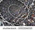 geometric spiral construction.... | Shutterstock . vector #1032336310