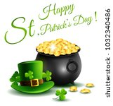 st.patricks day  treasure of... | Shutterstock .eps vector #1032340486