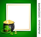 st. patricks day  abstract... | Shutterstock .eps vector #1032340498