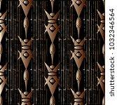 striped 3d geometric seamless... | Shutterstock .eps vector #1032346564