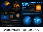 glowing search radar set of...