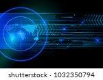 glowing screen blue elements of ...   Shutterstock . vector #1032350794
