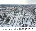 snow view from the top with... | Shutterstock . vector #1032359518
