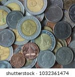 baht coins is thai currency | Shutterstock . vector #1032361474