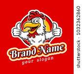 fried chicken restaurant logo... | Shutterstock .eps vector #1032362860