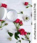 cream cosmetic natural pink... | Shutterstock . vector #1032363748