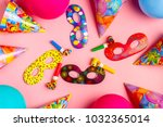 bright decor for a birthday ... | Shutterstock . vector #1032365014