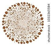 coffee bean swirl source.... | Shutterstock .eps vector #1032365584