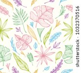 seamless pattern from hand ... | Shutterstock .eps vector #1032370516