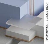 3d rendering  modern mock up ... | Shutterstock . vector #1032371020