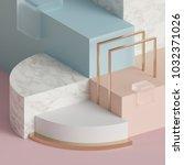 3d rendering  modern mock up ... | Shutterstock . vector #1032371026